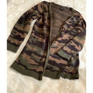 Camouflage Sweater Cardigan